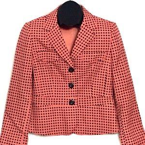 Emma James Woman's CORAL Polka Dot Blazer Size 6